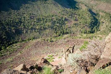 Looking Down 1000 Feet Rio Grande River Gorge NM