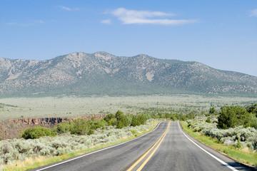 Road Mountains Rio Grande Gorge New Mexico USA