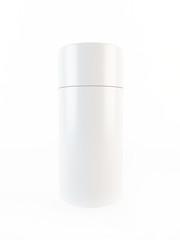 3d white plastic container