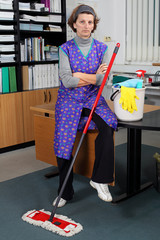 Portrait of profesional cleaning lady