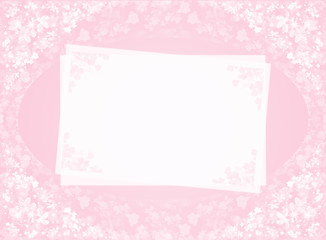 pink card with flowers