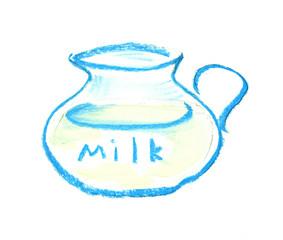 jub of milk illustration