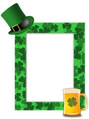 St Patricks Day Leprechaun Hat Beer Shamrock Frame