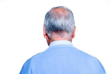 Senior balding man head