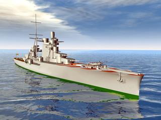 Modernes Kriegsschiff