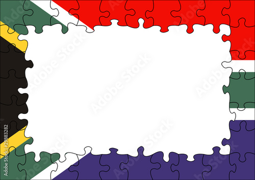 Quot South Africa Flag Puzzle Border Quot Stock Photo And Royalty