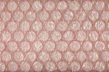 Pink packing bubble pad texture