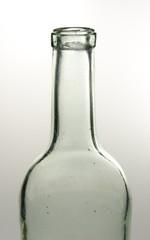 sehr alte Glasflasche, leer