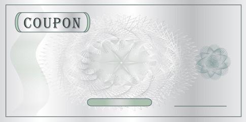 Coupon White silver