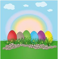 Easter egg landscape