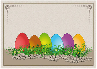Easter egg Colors Paper Card