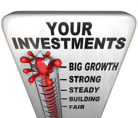 Thermometer - Your Investments Making Money