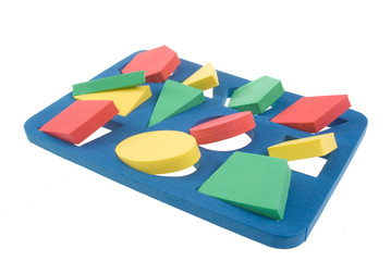 Children's developing game with color shapes