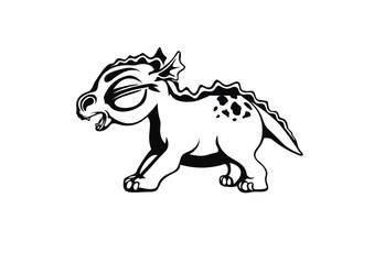 vector black dinosaur