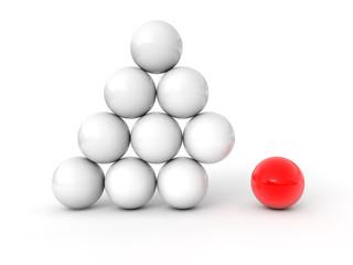 Pyramide boule