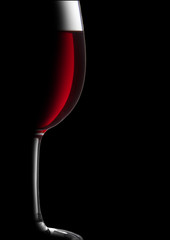 Wineglass in dark