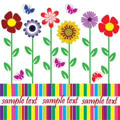 floral card with space for your text