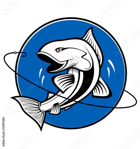 шутливая эмблема рыбака