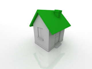 little house 3d isolated