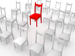 isolated chair concept