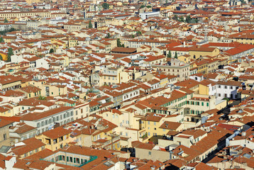 Italy, Florence aerial view