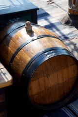 Old wooden wine barrel