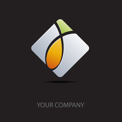 Abstract Logo, black background # Vector
