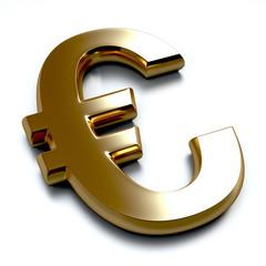 3D Gold Euro