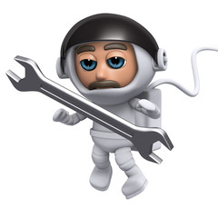 3d Spaceman uses his tool
