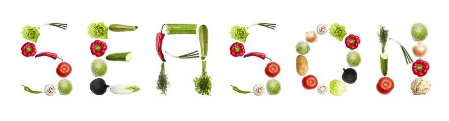 Season word made of vegetables