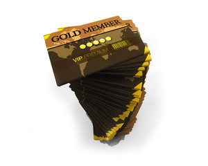 Gold member vip premium business card