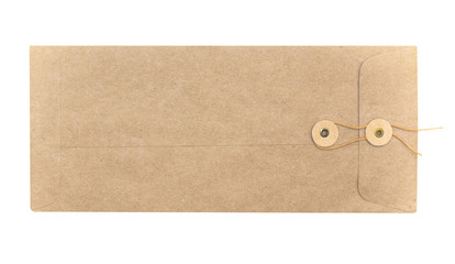 Long brown envelope with string clasp