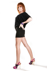 Frau lange Beine