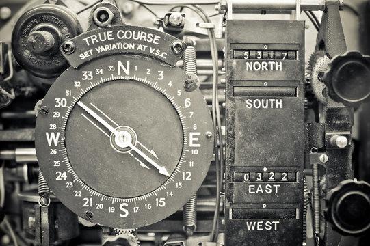 original WW2 navigational compass device