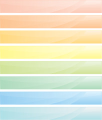 Pastel banners