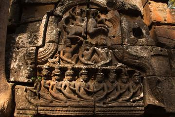 Linteau de porte d'Angkor Wat - Cambodge