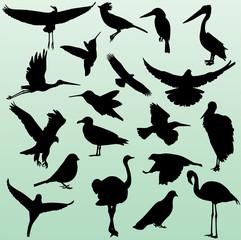 silhouette of birds 2 - vector