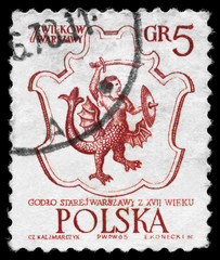 POLAND - CIRCA 1965 Coat of Arms