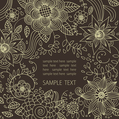 Floral background in dark colors