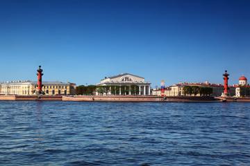 Panorama of Basil Island in St Petersburg, Russia