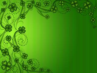 Lucky Shamrock Four Leaf Clover Background