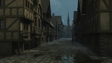 Wall Mural - Mediaeval Street Scene - 1