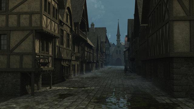 Mediaeval Street Scene - 1