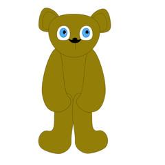 vector bear sitting holding knees
