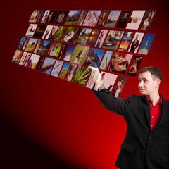 holografische Bildauswahl