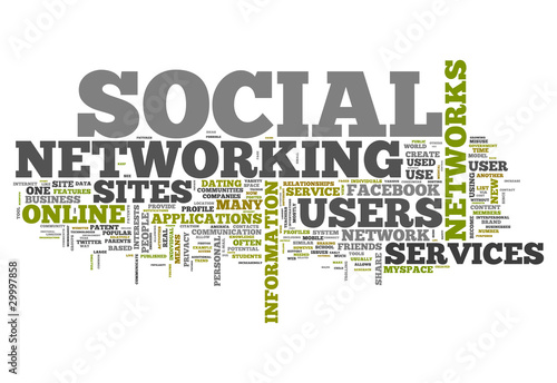 """""""Word Cloud """"Social Networking"""""""" Stock Photo And Royalty ..."""