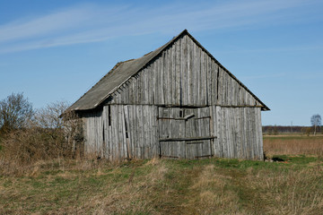 An old wooden barn.