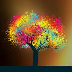 Obraz Abstract colorful tree. EPS 8 - fototapety do salonu