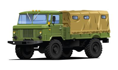 Fotorolgordijn Militair military truck