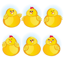 Cute illustreted chickens